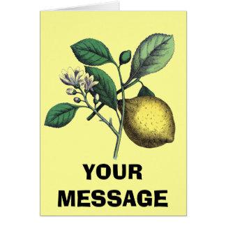 """Limón, """"fruta y flor """" tarjeta de felicitación"""