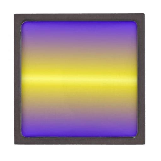 Limón horizontal y pendiente ultramarina eléctrica cajas de recuerdo de calidad