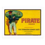 Limón LabelSan Fernando, CA del pirata Postal