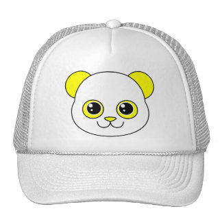 Limón lindo de la panda gorros bordados
