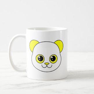 Limón lindo de la panda taza básica blanca