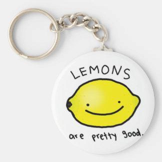 Limón Llavero Redondo Tipo Pin
