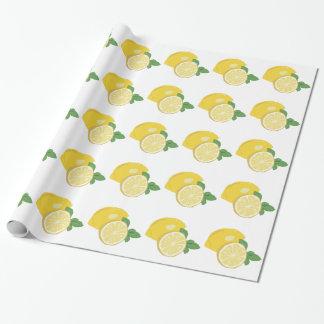 Limón Papel De Regalo