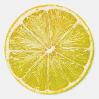 Limón Pegatina Redonda