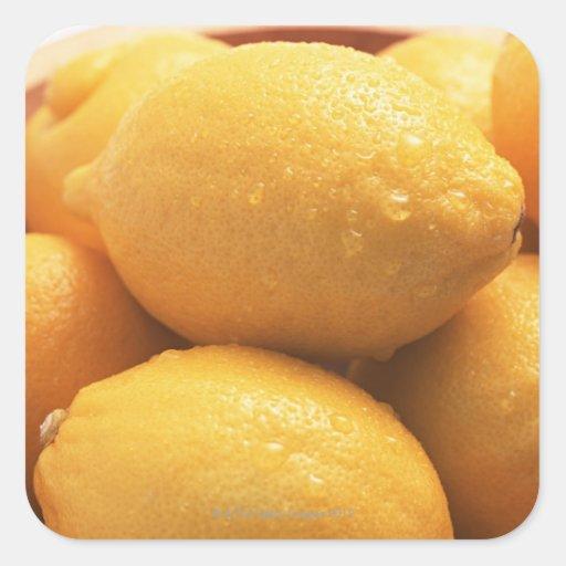 Limón Pegatinas Cuadradas Personalizadas