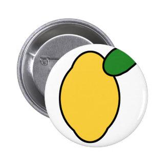 Limón Pin Redondo De 2 Pulgadas