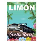 Limón, poster rican de las vacaciones de la costa tarjetas postales