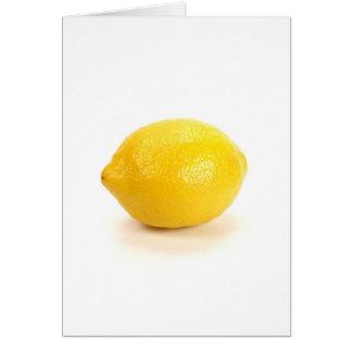 Limón Tarjeta De Felicitación