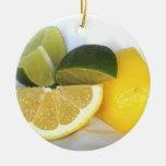 Limón y cal adornos de navidad