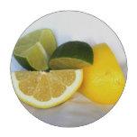 Limón y cal fichas de póquer