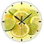 Limón y cal relojes de pared