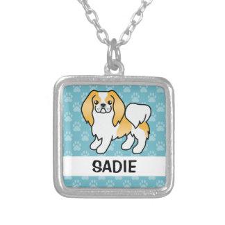 Limón y perro blanco de Chin del japonés Joyerias Personalizadas