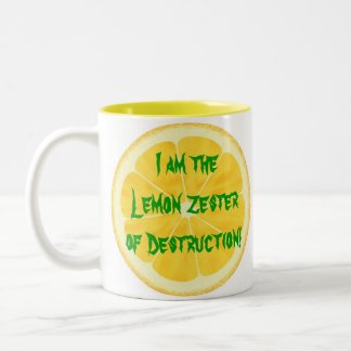 ¡Limón Zester de la destrucción! Taza