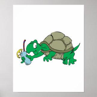 limonada de consumición de la tortuga tonta póster