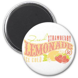 Limonada de la fresa imán redondo 5 cm