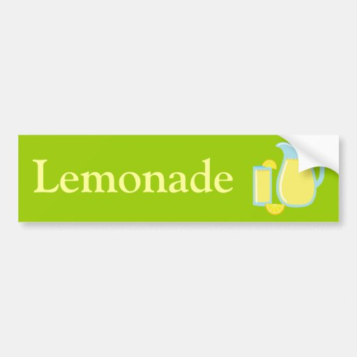 Limonada dulce pegatina de parachoque