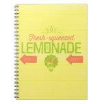 Limonada exprimida fresca cuaderno