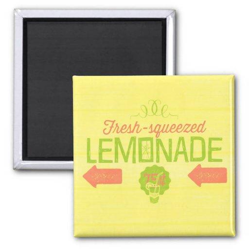 Limonada exprimida fresca imán para frigorifico