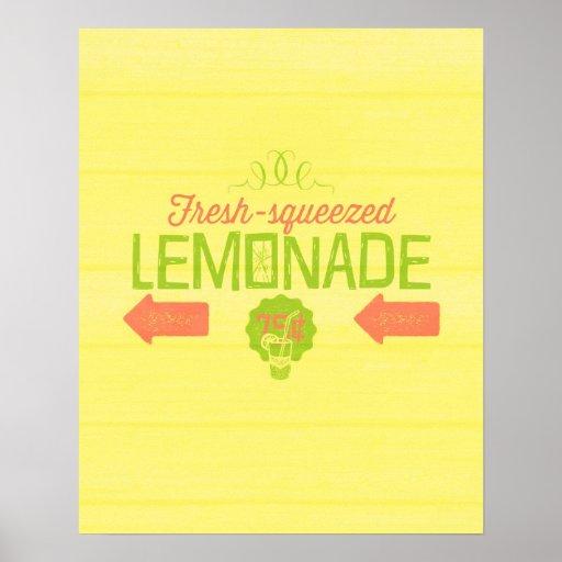 Limonada exprimida fresca póster