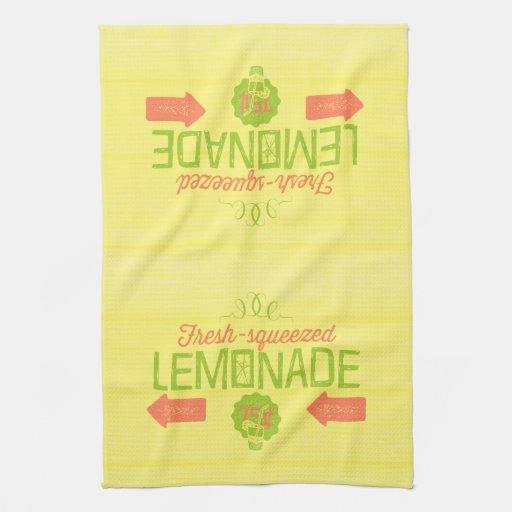 Limonada exprimida fresca toallas de cocina