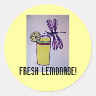 ¡Limonada fresca! Pegatinas Pegatinas Redondas