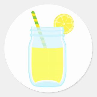 Limonada linda pegatina redonda