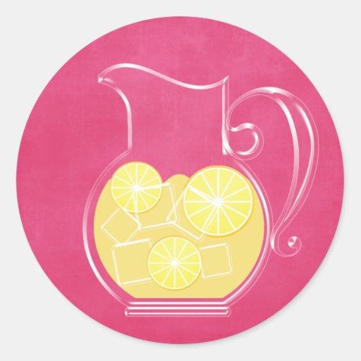 Limonada Pegatina Redonda