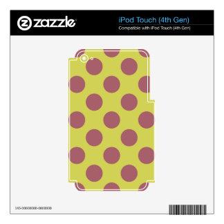 Limonada rosada Polkadots iPod Touch 4G Skins