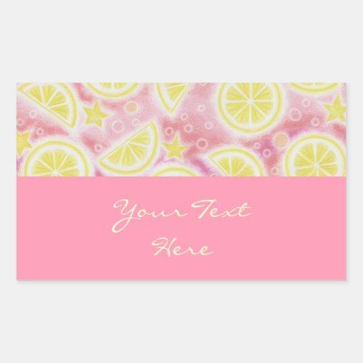 Limonada rosada rosa del rectángulo del pegatina