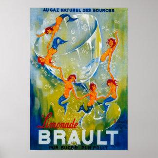 Limonade Brault Vintage PosterEurope Poster