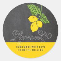 Limoncello faux chalkboard label