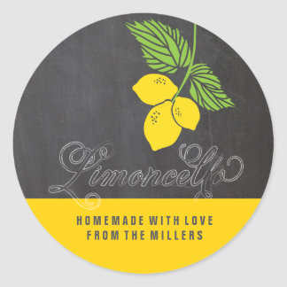 Limoncello faux chalkboard label
