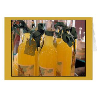 Limoncello, Italian lemon liqueur Card