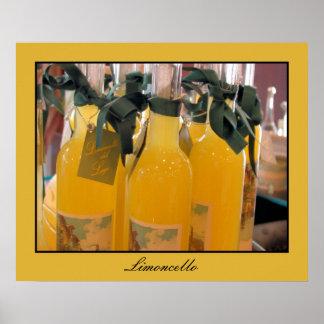Limoncello, Italian lemon liqueur Print