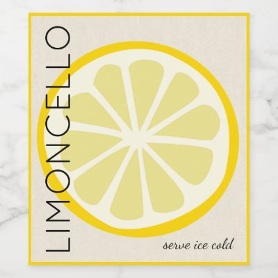 Excellent Homemade Limoncello When Life Gives You Lemons Wine Label | Zazzle.com NM28