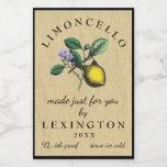 Limoncello Vintage Lemon Illustration Food Label at Zazzle