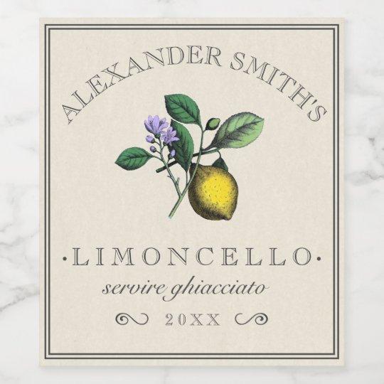 Unique Limoncello Vintage Lemon Illustration Label | | Zazzle.com QK72
