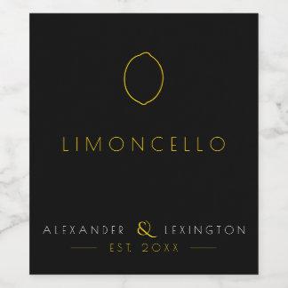 Limoncello Wedding Guest Favor Bottle Label  