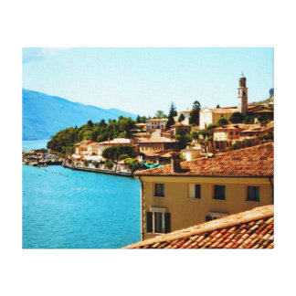 Limone Sul Garda Lake Garda Italy photo painting Canvas Print