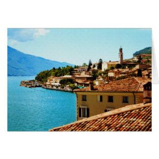 Limone Sul Garda Lake Garda Italy photo painting Card