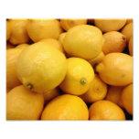 Limones amarillos arte con fotos