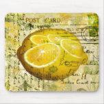 Limones de la postal alfombrilla de ratón