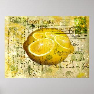 Limones de la postal póster