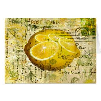 Limones de la postal tarjeta de felicitación