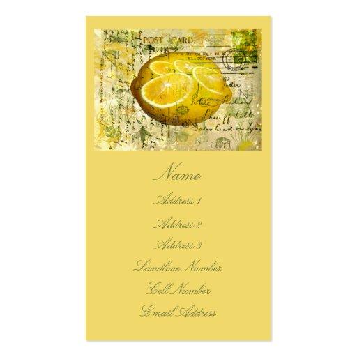 Limones de la postal tarjeta de negocio