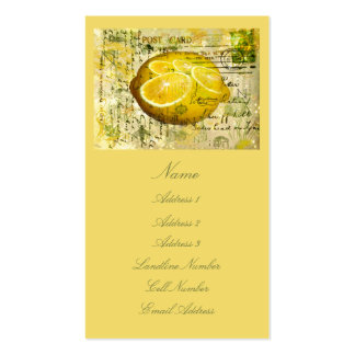 Limones de la postal tarjetas de visita