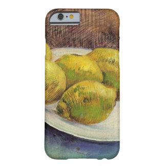Limones de Van Gogh en una placa, todavía del Funda De iPhone 6 Barely There
