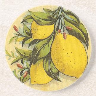Limones deliciosos posavaso para bebida