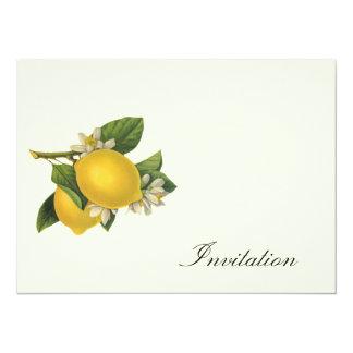 """Limones - el vintage invita invitación 5.5"""" x 7.5"""""""