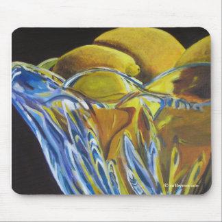 Limones en la estera cristalina del ratón del cuen alfombrillas de raton